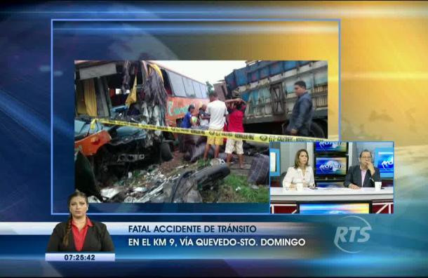 Última hora: Accidente en la vía Santo Domingo cobra la vida de 3 personas