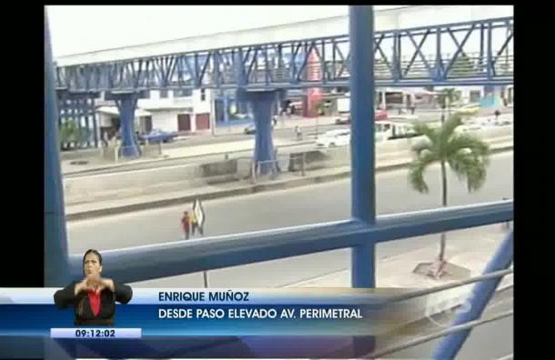 Ciudadanos denuncian que paso elevando en la vía Perimetral es inseguro