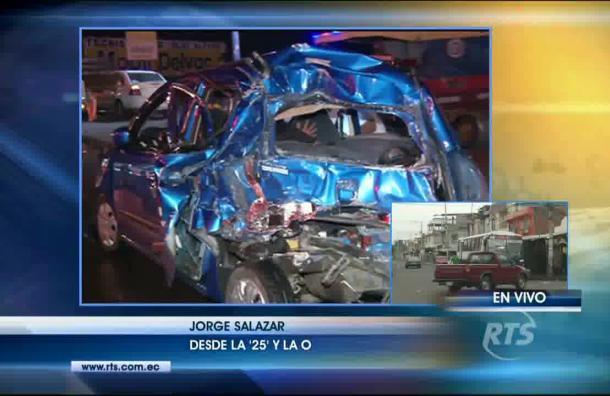 Accidentes de tránsito y asaltos al suroeste de Guayaquil