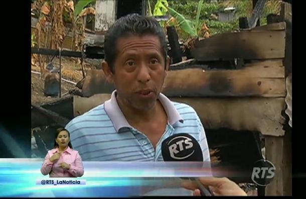 Familia perdió todo en incendio registrado en la Coop. Balerio Estacio