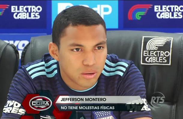 Jefferson Montero no tiene molestias físicas