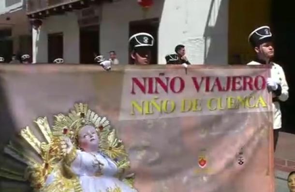 Se realizó el pregón del Niño Viajero en Cuenca